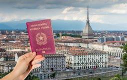 Italian passport composite Stock Image