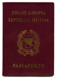Isolated Italian Passport royalty free stock photo