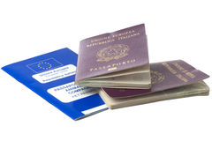 Italian passport and pets passport Royalty Free Stock Photography