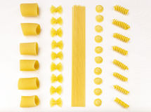 Italian past. Farfalle, spaghetti, orecchiette. stock photo