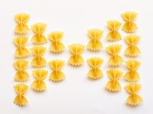 Italian pasta. Typical Italian pasta called farfalle Stock Image