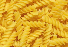 Italian pasta. Close-up picture of Italian pasta (fusilli type Royalty Free Stock Photography