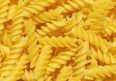Italian pasta. Close-up picture of Italian pasta (fusilli type royalty free stock photography
