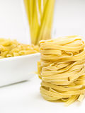 Italian pasta. Different varieties of fresh Italian pasta Royalty Free Stock Image