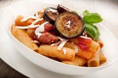 Italian pasta alla Norma. Original italian pasta alla Norma Royalty Free Stock Photo