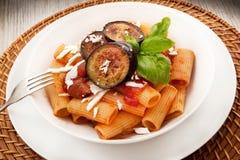 Italian pasta alla Norma. Original italian pasta alla Norma Royalty Free Stock Photography