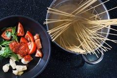 Italian pasta with artichoke Royalty Free Stock Photo