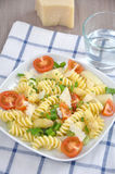 Pasta with asparagus Stock Image