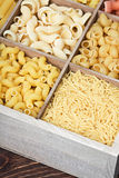 Italian pasta assortment of different colors background Stock Images