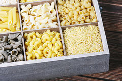 Italian pasta assortment Stock Photography