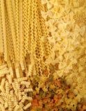 Italian pasta background. Stock Photos