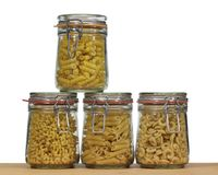 Italian pasta background Stock Images