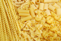 Italian pasta background. Close up of tipical italian pasta. Nice food background Stock Image