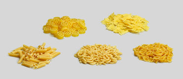 Italian pasta background. Full frame italian pasta background with lots of Radiatori noodles Stock Photos