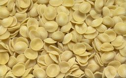 Italian pasta background. Full frame italian pasta background with lots of Radiatori noodles Royalty Free Stock Photo