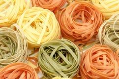 Italian pasta background Royalty Free Stock Photos