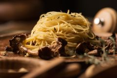 Italian pasta background royalty free stock image