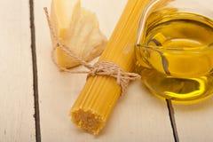 Italian pasta basic food ingredients Royalty Free Stock Photography