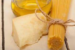 Italian pasta basic food ingredients Stock Image