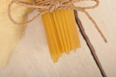 Italian pasta basic food ingredients Royalty Free Stock Images