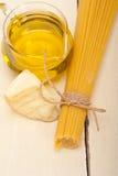 Italian pasta basic food ingredients Royalty Free Stock Photos
