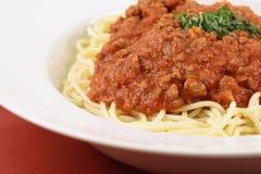Italian pasta bolognese royalty free stock photo