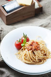 Italian pasta bolognese with meat and tomato Royalty Free Stock Image