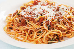 Italian pasta bolognese Stock Photos