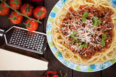 Italian pasta bolognese Stock Photo