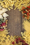 Italian Pasta Border Royalty Free Stock Photo