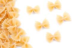 Italian pasta in bow shape Stock Image