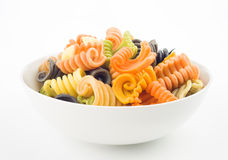 Italian pasta bowl seven flavors Royalty Free Stock Images