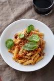 Italian pasta in bowl Royalty Free Stock Photos