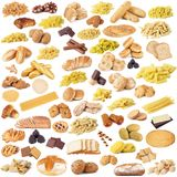 Italian pasta bread and cookies collage. Collage of original italian pasta bread and cookies Royalty Free Stock Images