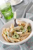 Italian pasta with broccoli Royalty Free Stock Photography