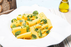 Italian pasta with broccoli Royalty Free Stock Photography