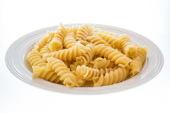 Italian pasta called fusilli Stock Photo