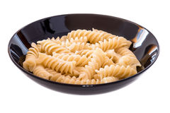Italian pasta called fusilli Stock Image