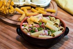Italian pasta called macaroni Royalty Free Stock Photos