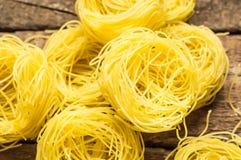 Italian pasta Cappellini Royalty Free Stock Images