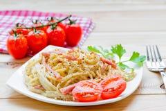 Italian pasta carbonara Royalty Free Stock Photo