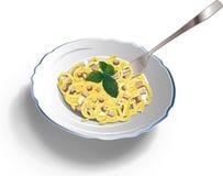 Italian pasta carbonara. A good plate of Italian pasta carbonara Royalty Free Stock Photography