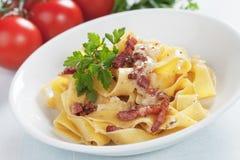 Italian pasta carbonara Royalty Free Stock Photography