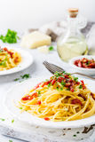 Italian pasta Carbonara Stock Photography