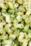 Italian pasta cavatappi with pesto sauce Royalty Free Stock Photo