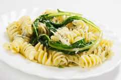 Italian pasta with chard or silverbeet Stock Images
