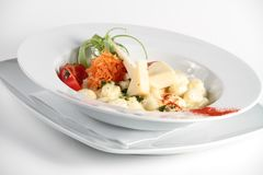 Italian pasta with cheese in a plate Royalty Free Stock Image