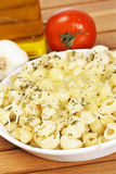 Italian pasta with cheese and tomato Stock Photography