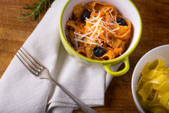 Italian pasta with cheese. Stock Images