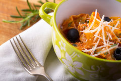 Italian pasta with cheese. Royalty Free Stock Photography
